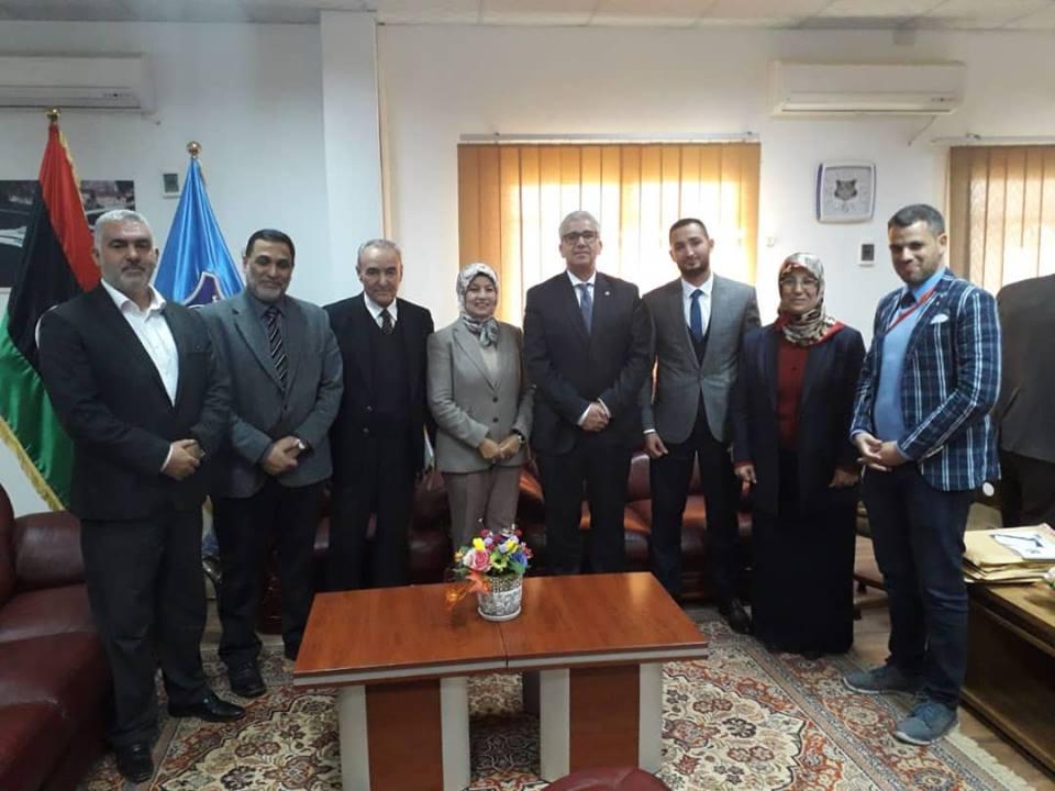 لقاء وزير العدل المكلف بجكومة الوفاق الوطني وممثلي الأحزاب السياسية